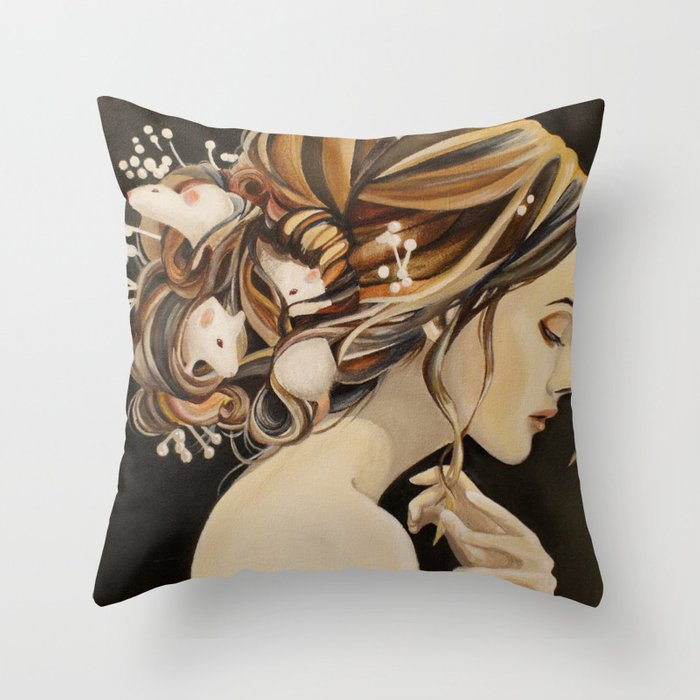 Rats Nest Throw Pillow