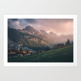 Evening in the Mountains Art Print