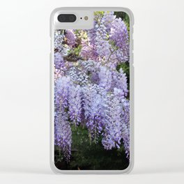 Whimsical Wisteria Clear iPhone Case