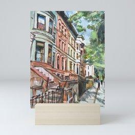 Brooklyn Brownstones Mini Art Print