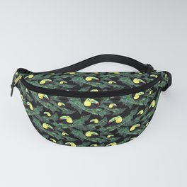 Happy Toucans And Tropical Leaves-Pattern Fanny Pack