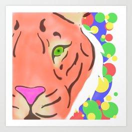 Peek-a-Boo Tiger Art Print