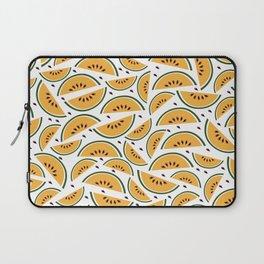 Yellow watermelon pattern art Laptop Sleeve
