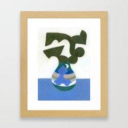 Moonlight Mystery Vase Framed Art Print