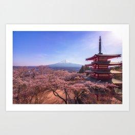 Dear Fuji Art Print