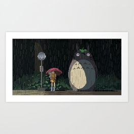 Waiting for the bus Art Print