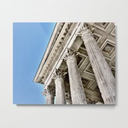 Roman Temple Corinthian Columns Nimes Provence France Metal Print