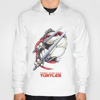 tmnt Hoodies featuring TMNT by Linartist
