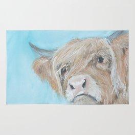 whimsical Highland Cow Rug