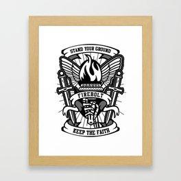 Fire bolt Torch Framed Art Print