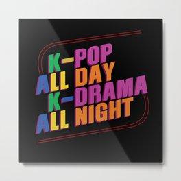 K-pop And K-drama Metal Print