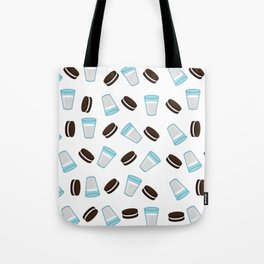 Oreo and milk pattern Tote Bag