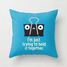 Get a Grip Throw Pillow