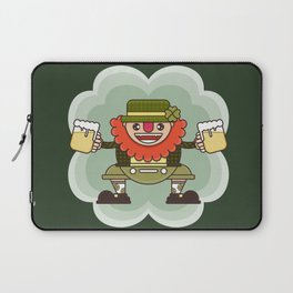 Leprechaun is ready for Oktoberfest Laptop Sleeve