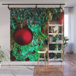 Baubles, Beads and Tinsel Holiday Decor Wall Mural