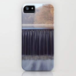 misty sunrise waterfall iPhone Case