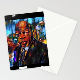 John Lewis, African American Portrait of a Man portrait painting Stationery Cards