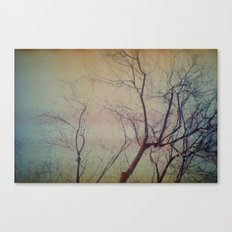 light leaked, tree. Canvas Print