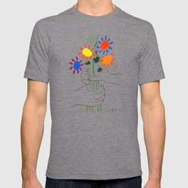 Pablo Picasso Bouquet Of Peace 1958 (Flowers Bouquet With Hands), T Shirt, Artwork T-shirt