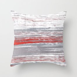 Red-gray abstract Throw Pillow