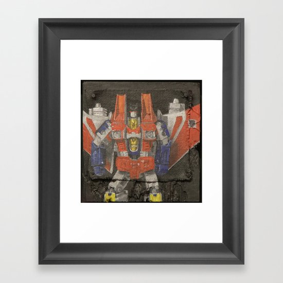 Starscream plays a Flying V Framed Art Print