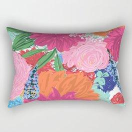 Pretty Colorful Big Flowers Hand Paint Design Rectangular Pillow