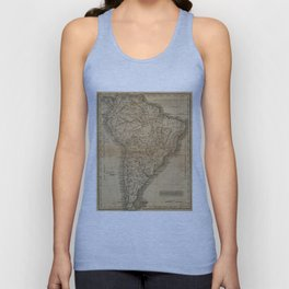Vintage Map of South America (1825) Unisex Tank Top