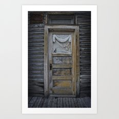 Orange Door Art Print