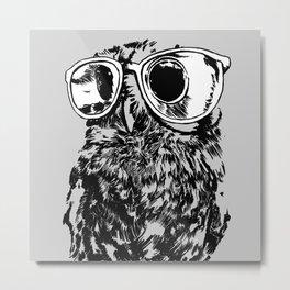 Geek Owl Metal Print