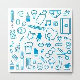 fresh! icons (: Metal Print