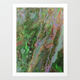 Green Inverted Pour 6 Art Print