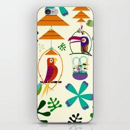 Vintage Modern Tiki Birds iPhone Skin