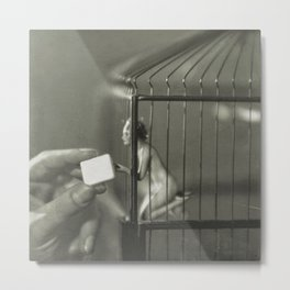 Femme Fatale (Trying to put a woman in a cage) black and white photography - photographs by Atelier Manassé Metal Print