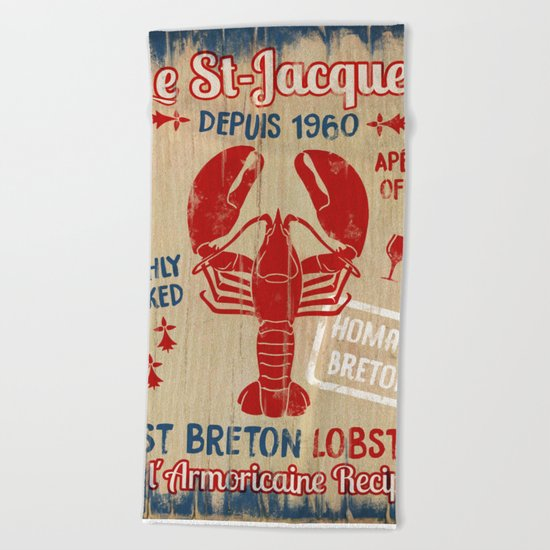 Le St-Jacques Lobster Shack Beach Towel