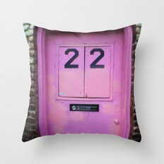 Pink Door Throw Pillow