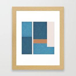 Intercepts, Geometric Forms Shapes Framed Art Print
