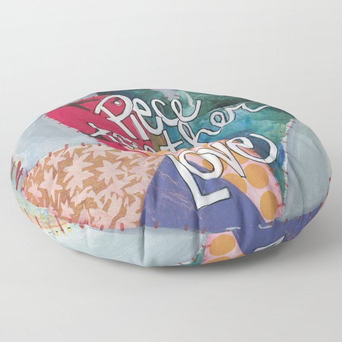 Quilters Piece Together Love Floor Pillow