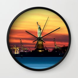 Statue of Liberty NYC (Color) Wall Clock