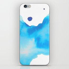 Blue Watercolour iPhone Skin