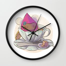 Poppette at tea time Wall Clock