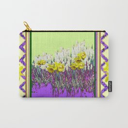 PANTENE ULTRA VIOLET PURPLE DAFFODIL GARDEN DECORATIVE ART Carry-All Pouch