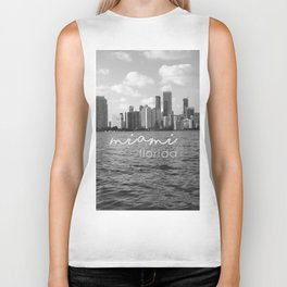 I'm in Miami - Black and white Biker Tank