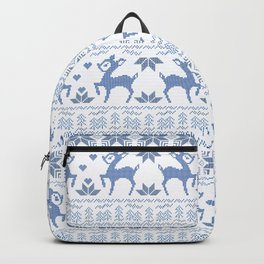 Christmas pattern. Cross-stitch. 2 Backpack
