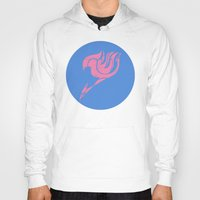 fairy tail Hoodies featuring Fairy Tail Segmented Logo (Lucy) circle by JoshBeck