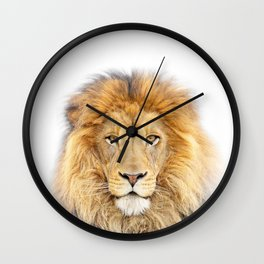 Lion Animals Art by Zouzounio Art Wall Clock