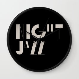 Night Jazz Wall Clock