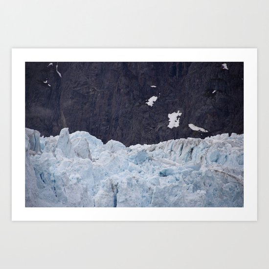 Glacier: Blue Ice Art Print