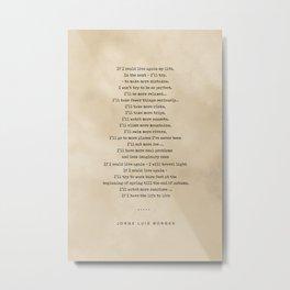 Jorge Luis Borges Quote 05 - Typewriter Quote on Old Paper - Minimalist Literary Print Metal Print