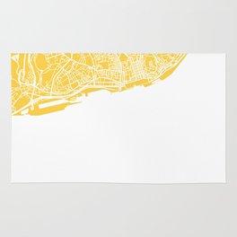lisbon map yellow Rug