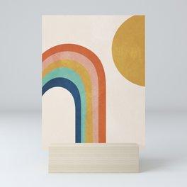 The Sun and a Rainbow Mini Art Print